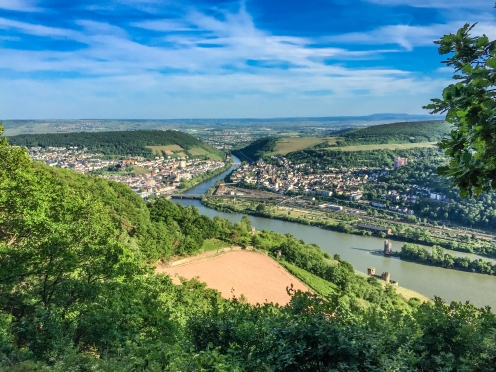 beautiful vantage points of the city Rudesheim